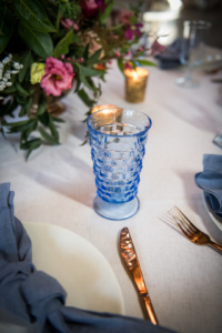 Vintage Blue Goblets
