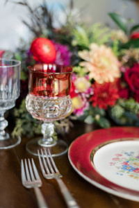 Vintage Place Setting in Red