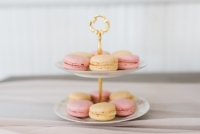Vintage Tiered Stand with Macarons