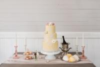 Vintage Milk Glass Cake Stand on Dessert Table
