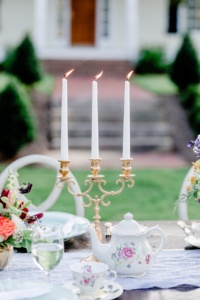 Vintage Candelabra on Table