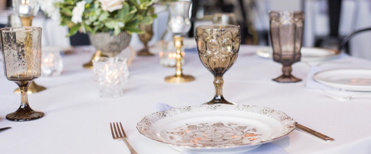 Vintage Goblets and Place Settings