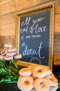 Donut Sign at Wedding