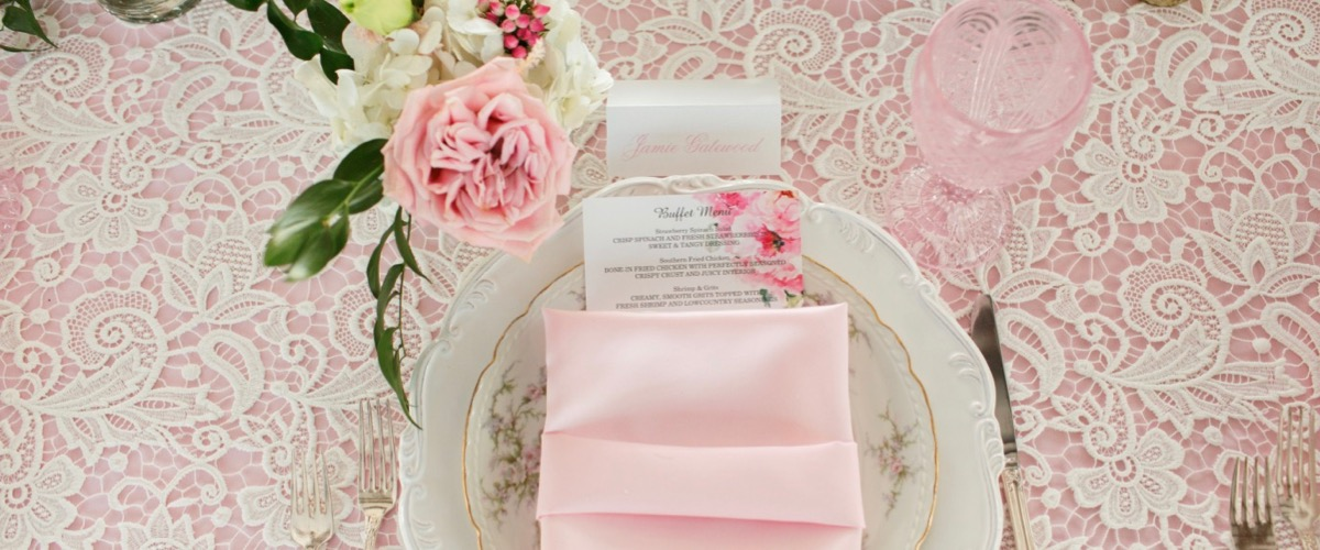 Vintage Pink Place Setting