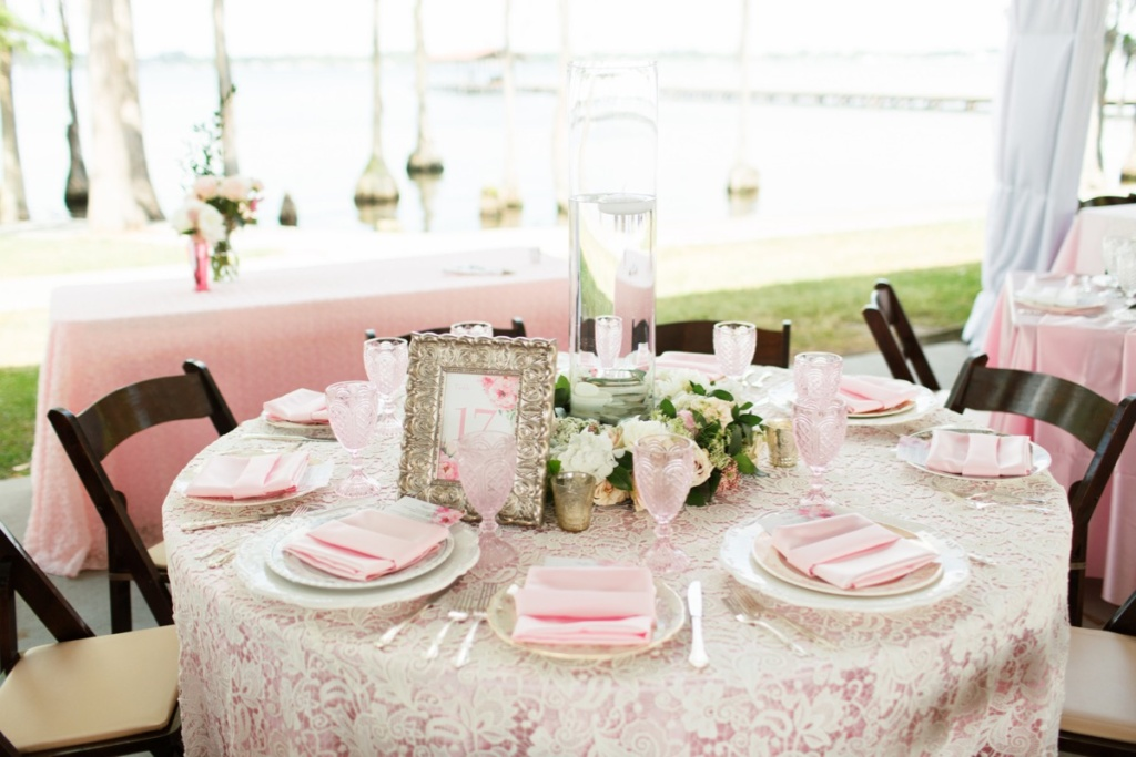 Vintage Pink Reception Table
