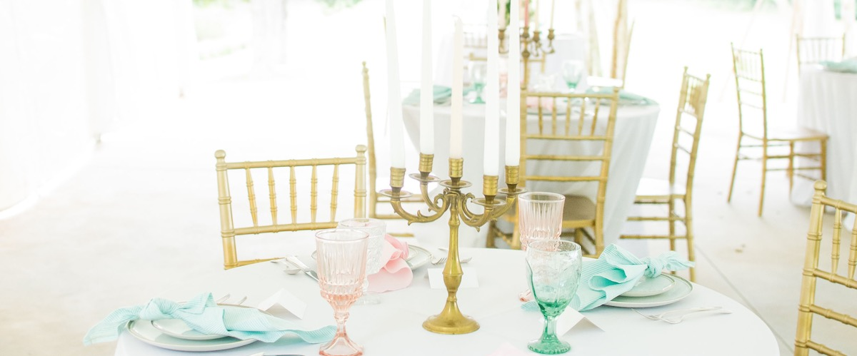 Table Setting with Candelabra