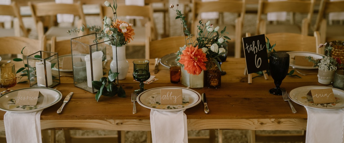Vintage Wedding Tables