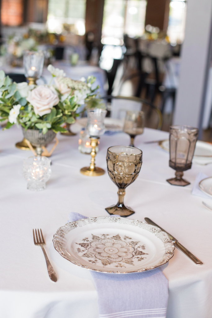 Gold and Brown Place Settings