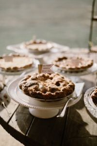 Pies on Vintage Cake Stands