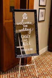 Vintage Welcoming Sign/Mirror