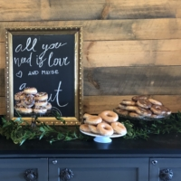 Donut Bar with Vintage Cake Plates