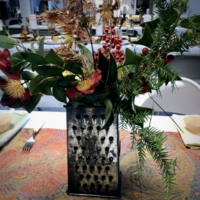 Vintage Grater with Greenery