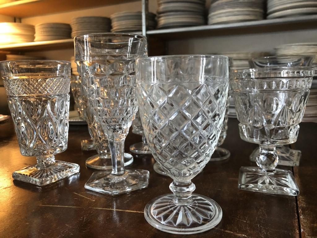 Vintage Clear Goblets