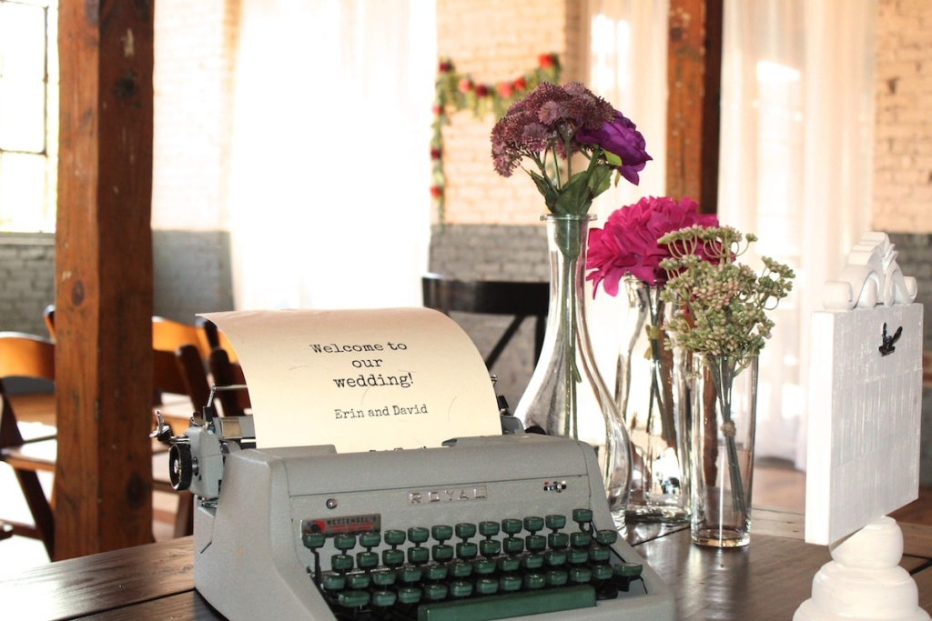 Vintage Typewriter as Wedding Decor