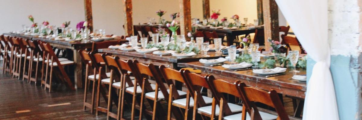 Vintage Wedding Reception Tables