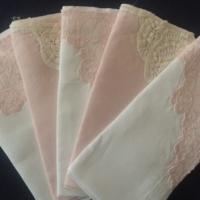 Vintage Pink Lace Napkins