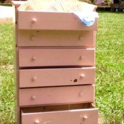 Vintage Pink Dresser