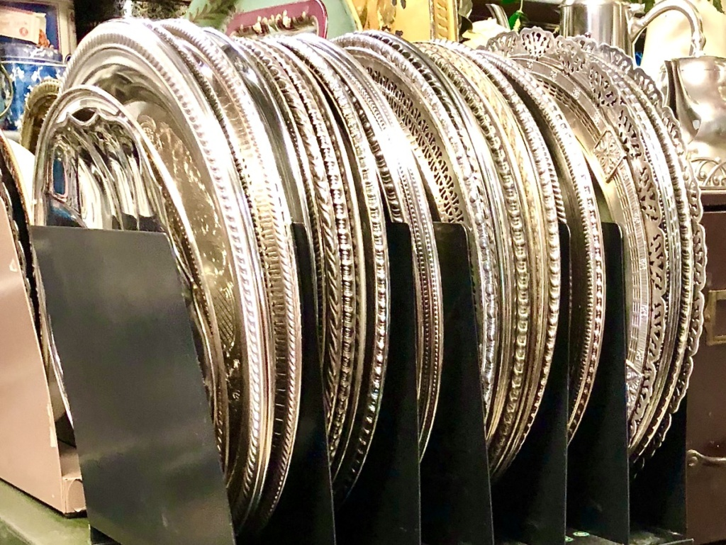 Vintage Round Silverplate Trays Chargers