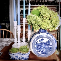 Vintage Blue and White Vase