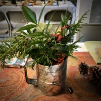Vintage Sifter with Greenery