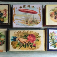 Vintage Style Cigar Boxes