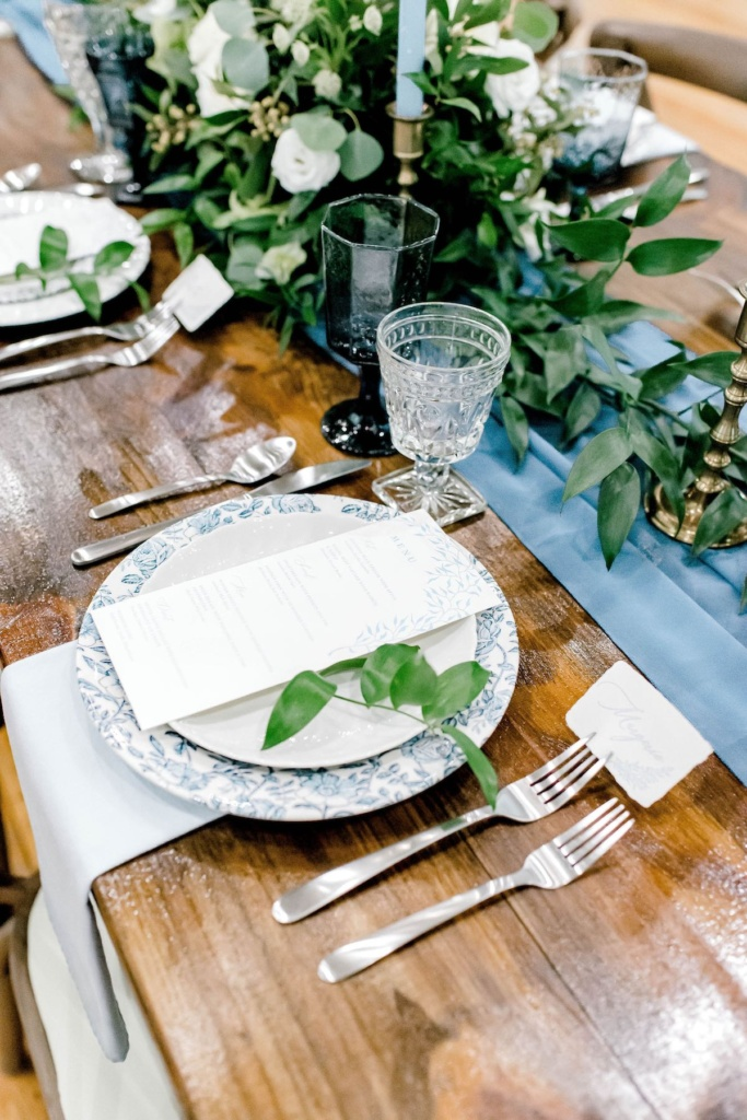 Vintage Blue Place Setting