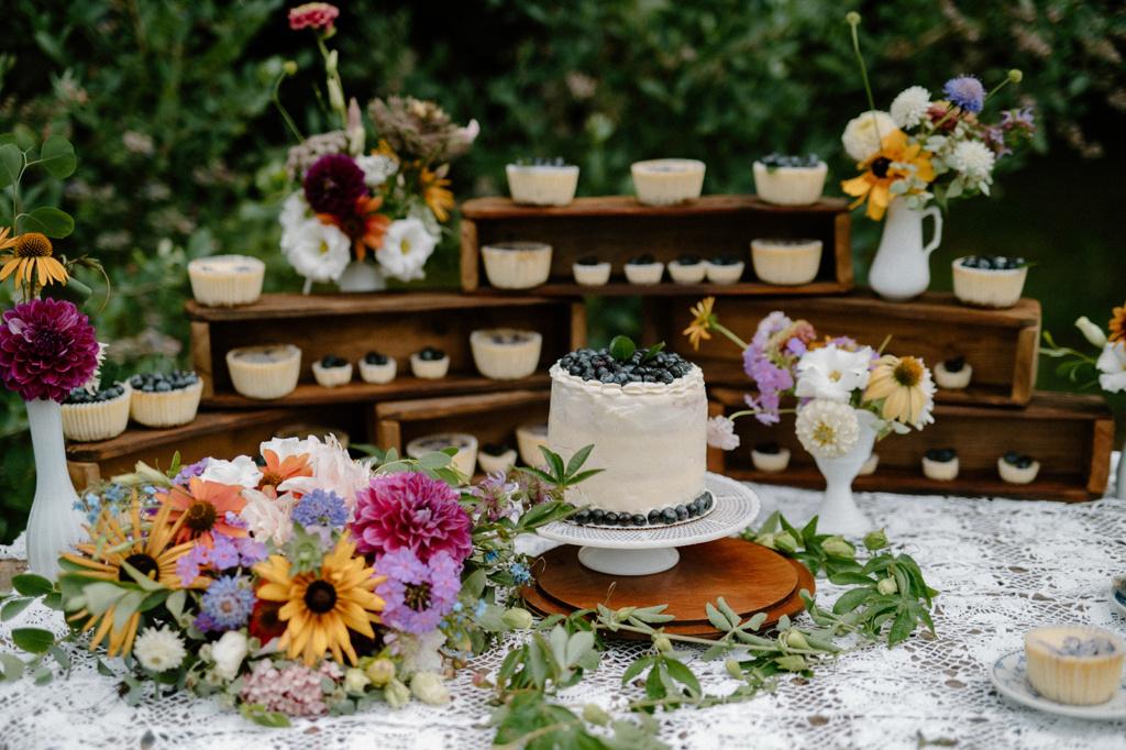 Blueberry Dessert Table