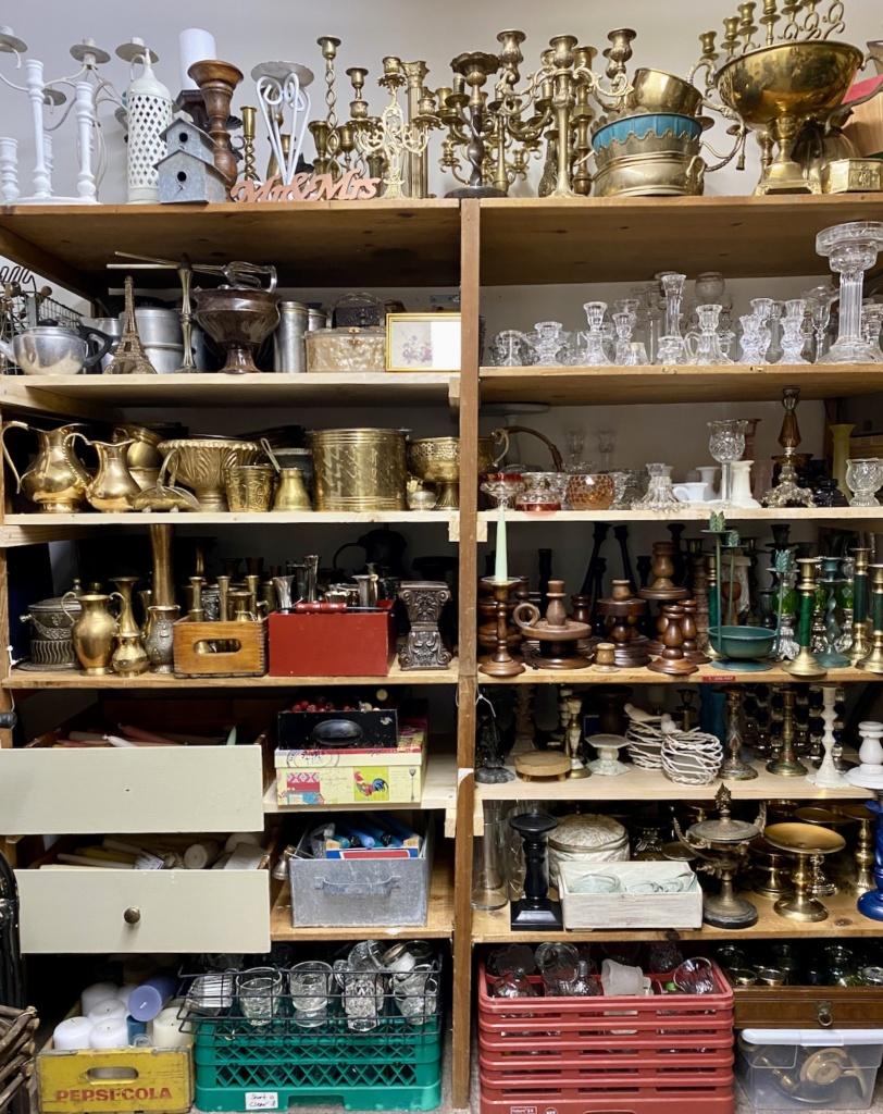 Vintage Decor on Shelves