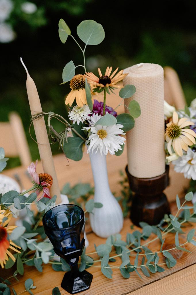 Vintage Wooden Pillar Candleholder