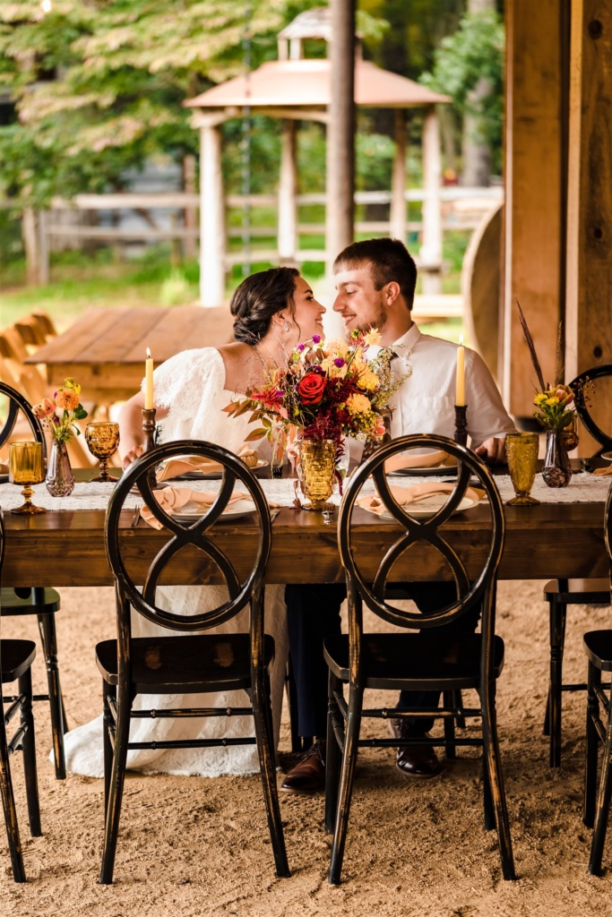 Couple at Reception Table