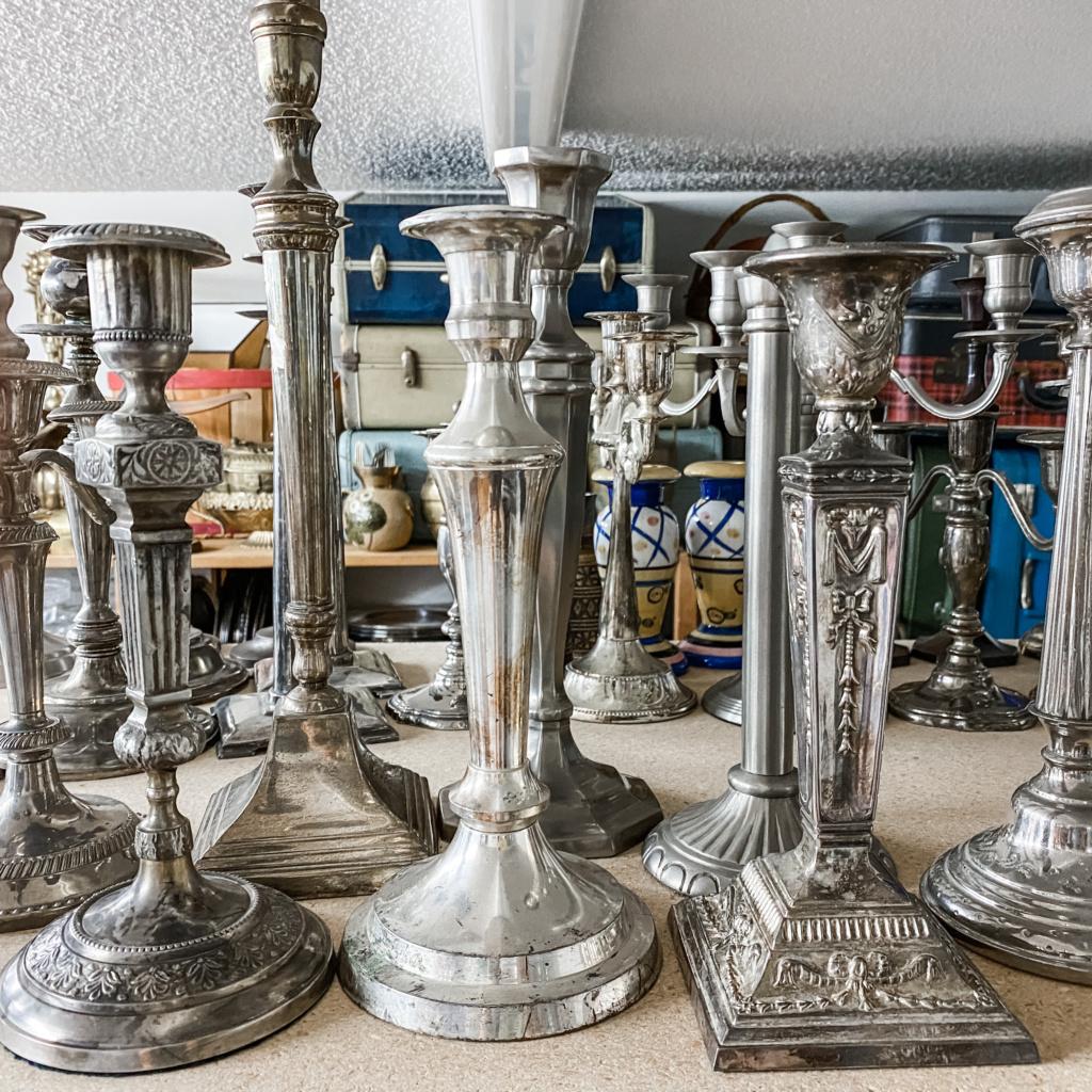 Vintage Silverplate Candleholders