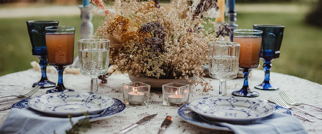 Vintage Blue and White Place Settings