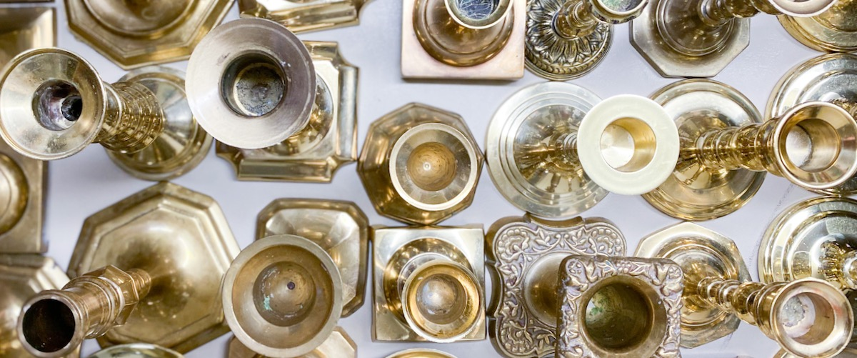 Vintage Brass Candleholders