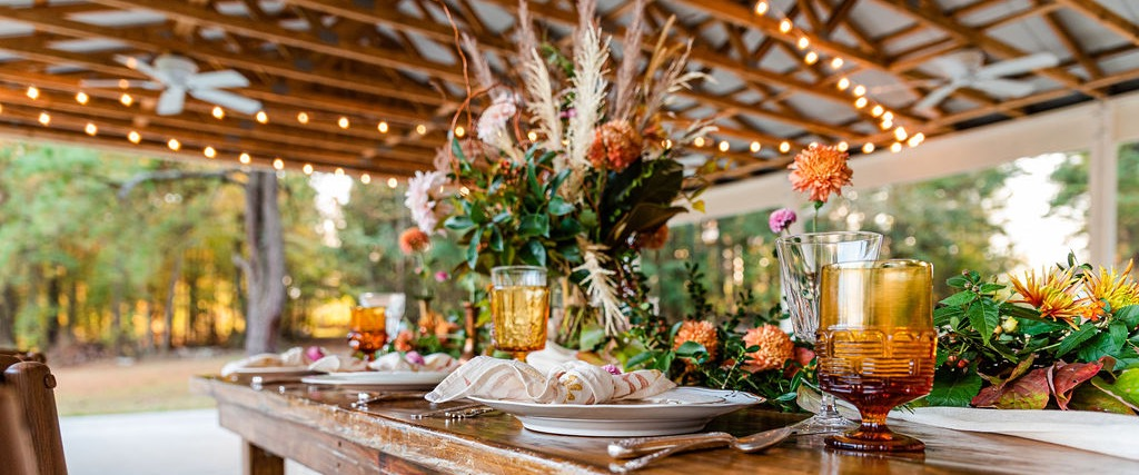Vintage Fall Table Settings