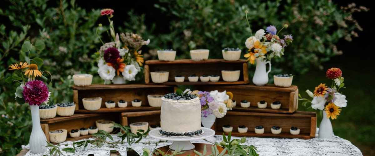 Dessert Table with Wooden Boxes