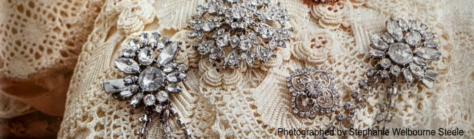 Lace with Vintage Pins
