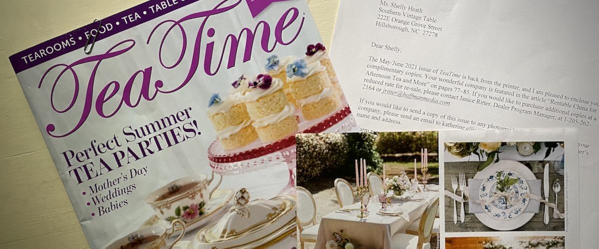 Tea Time Magazine Spread