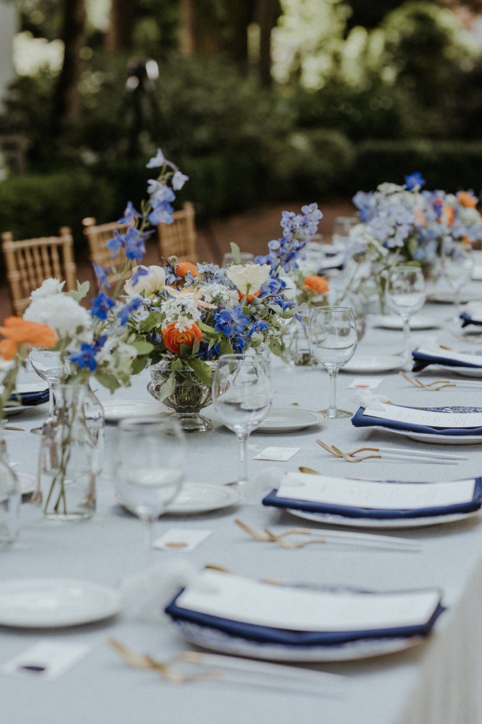Reception Tables with Vintage Independence Hall